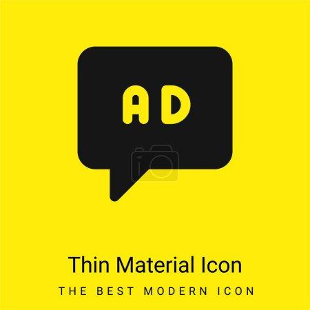 Illustration pour Annonces minime jaune vif icône matérielle - image libre de droit