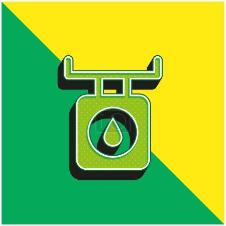 Illustration pour Balance Vert et jaune moderne icône vectorielle 3d logo - image libre de droit