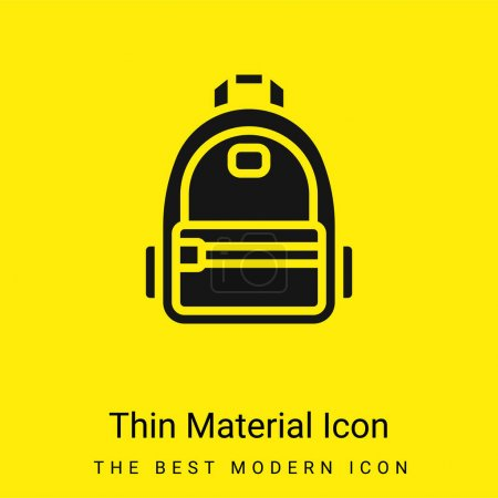 Backpack minimal bright yellow material icon