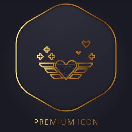 Angel golden line premium logo or icon