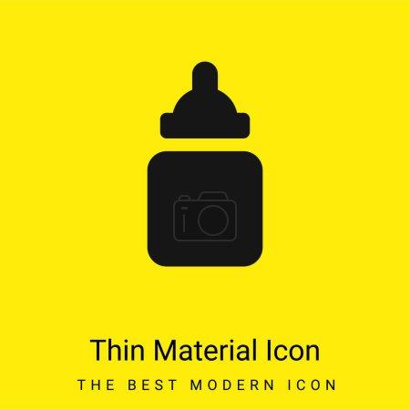 Photo pour Bébé Bouteille minimale jaune vif icône matérielle - image libre de droit