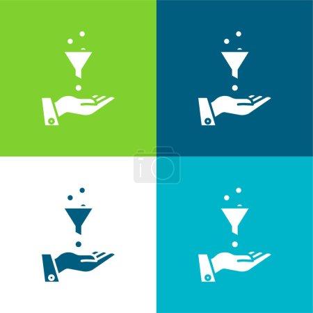 Ads Flat four color minimal icon set