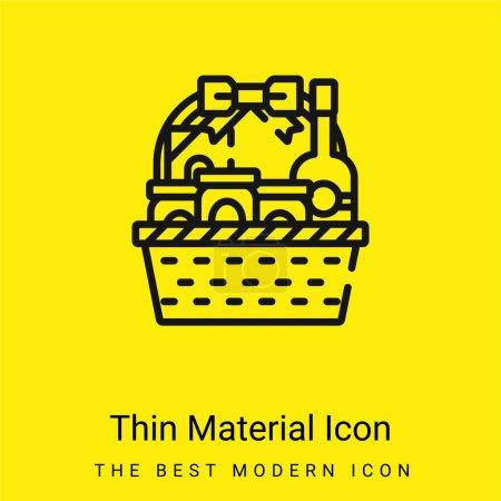 Illustration pour Panier minimal icône matériau jaune vif - image libre de droit