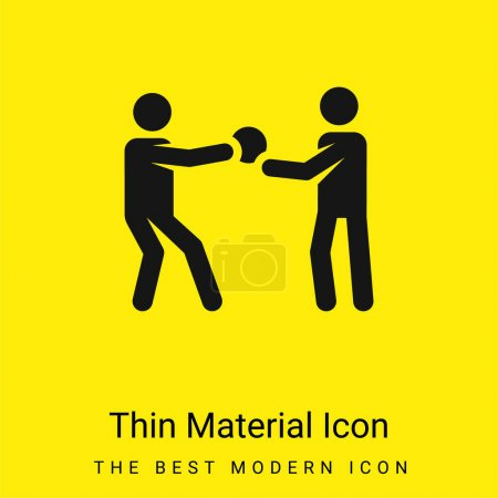 Illustration for Basketball Player minimal bright yellow material icon - Royalty Free Image