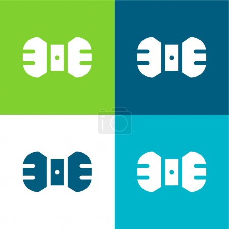 Illustration for Bow Tie Flat four color minimal icon set - Royalty Free Image