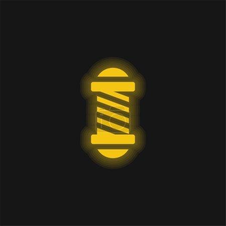 Photo pour Salon de beauté jaune flamboyant icône néon - image libre de droit
