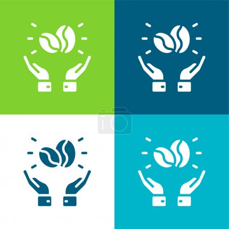 Illustration for Beans Flat four color minimal icon set - Royalty Free Image