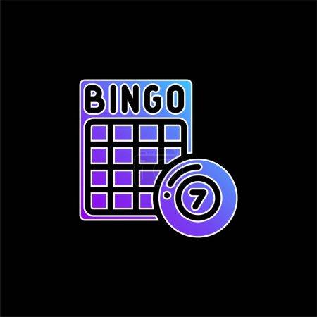 Illustration pour Icône vectorielle de dégradé bleu bingo - image libre de droit