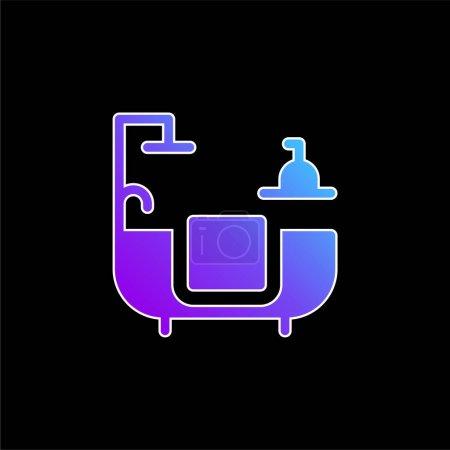 Bathroom blue gradient vector icon