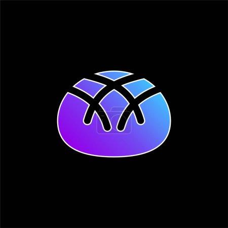 Illustration pour Icône vectorielle dégradé bleu pain - image libre de droit