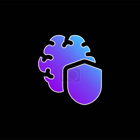 Brain blue gradient vector icon