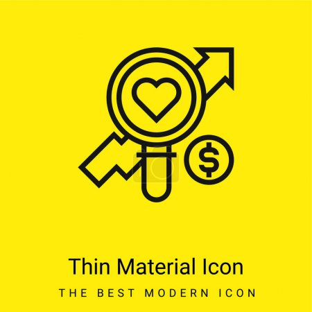 Illustration for Analysis minimal bright yellow material icon - Royalty Free Image