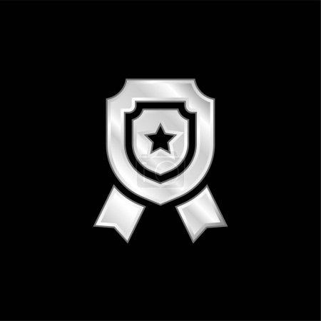 Insignia plateado icono metálico