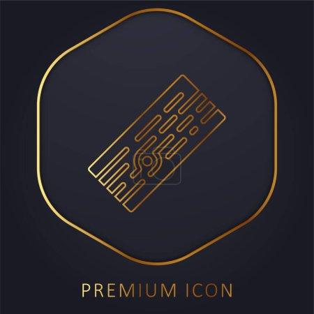 Illustration pour Plateau ligne d'or logo premium ou icône - image libre de droit