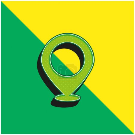 Big Map Placeholder Green and yellow modern 3d vector icon logo