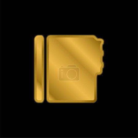 Illustration pour Address Book Black Shape gold plated metalic icon or logo vector - image libre de droit