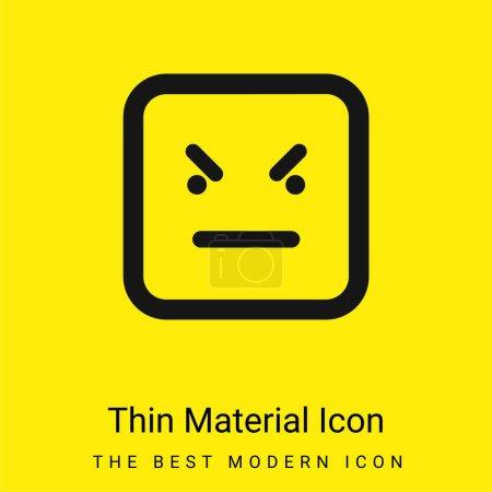 Illustration pour Bad Emoticon Square Face minime icône de matériau jaune vif - image libre de droit