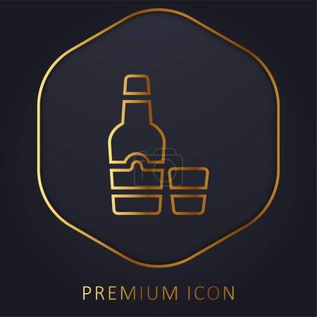 Illustration pour Arak golden line premium logo or icon - image libre de droit