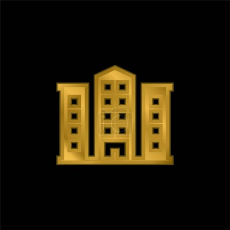 Illustration for Apartment gold plated metalic icon or logo vector - Royalty Free Image