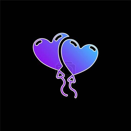 Luftballons blaues Gradienten-Vektor-Symbol