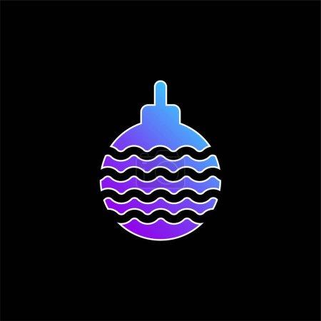 Illustration pour Icône vectorielle de dégradé bleu Bauble - image libre de droit