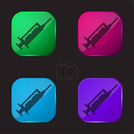 Botox four color glass button icon