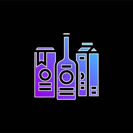 Illustration pour Icône vectorielle de dégradé bleu marque - image libre de droit
