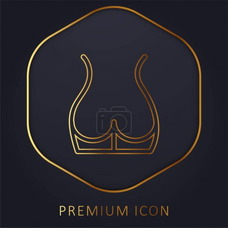 Illustration for Back Part Of The Body Showing Butt Area golden line premium logo or icon - Royalty Free Image