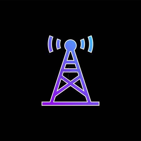 Photo pour Icône vectorielle de gradient bleu antenne - image libre de droit