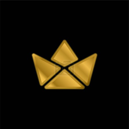 Illustration for Boat gold plated metalic icon or logo vector - Royalty Free Image