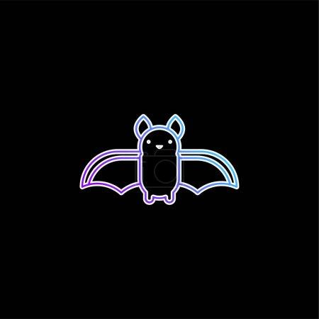 Illustration pour Icône vectorielle dégradée bleu chauve-souris - image libre de droit