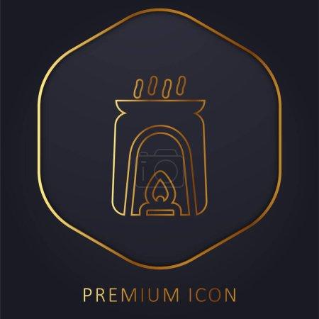 Aromatherapie Golden Line Premium-Logo oder Symbol