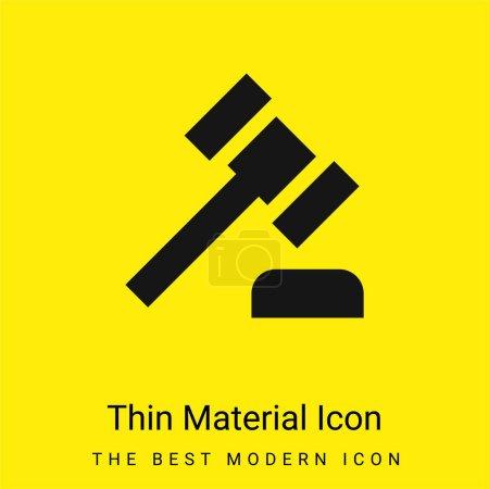 Illustration pour Icône matérielle jaune vif minimale de vente aux enchères - image libre de droit