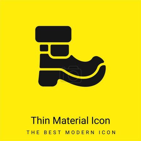 Illustration pour Botte minimale jaune vif icône matérielle - image libre de droit