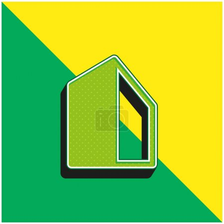 Photo pour Logo vectoriel 3d moderne vert et jaune Big Building - image libre de droit