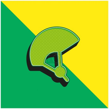 Fahrrad Grünes und gelbes modernes 3D-Vektor-Symbol-Logo