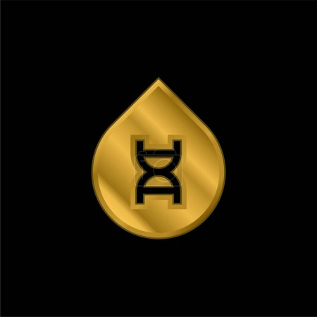 Illustration for Blood gold plated metalic icon or logo vector - Royalty Free Image