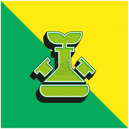 Illustration for Biotechnology Green and yellow modern 3d vector icon logo - Royalty Free Image