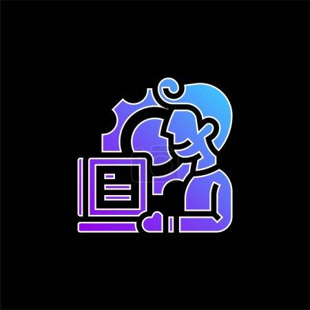 Illustration pour Application icône vectorielle dégradé bleu - image libre de droit