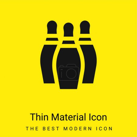 Bowling minimal bright yellow material icon