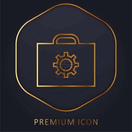 Illustration pour Porte-documents ligne d'or logo premium ou icône - image libre de droit