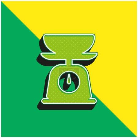 Balance Sheet Green and yellow modern 3d vector icon logo