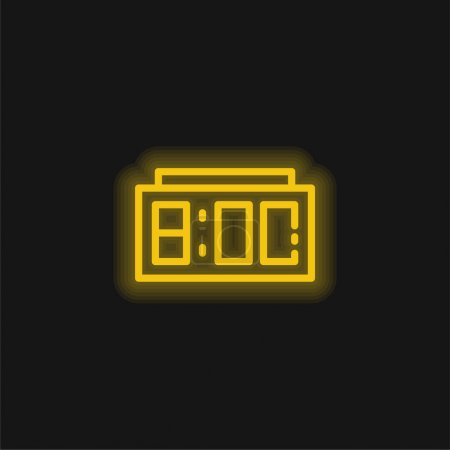 Photo for Alarm Clock yellow glowing neon icon - Royalty Free Image