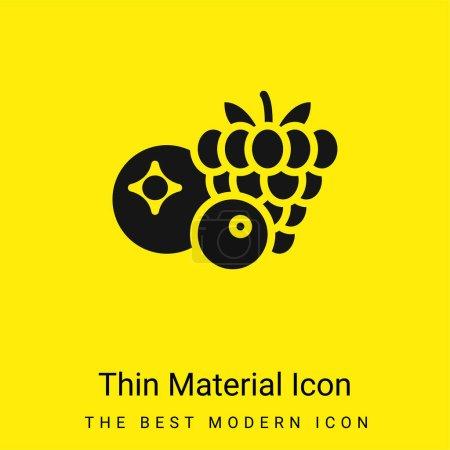 Illustration pour Baies minime jaune vif icône matérielle - image libre de droit