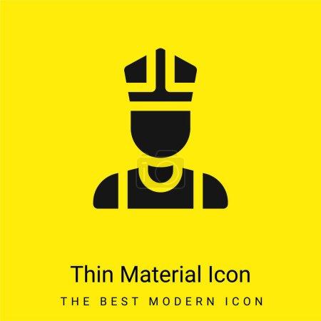 Illustration pour Bishop minimal jaune vif icône matérielle - image libre de droit