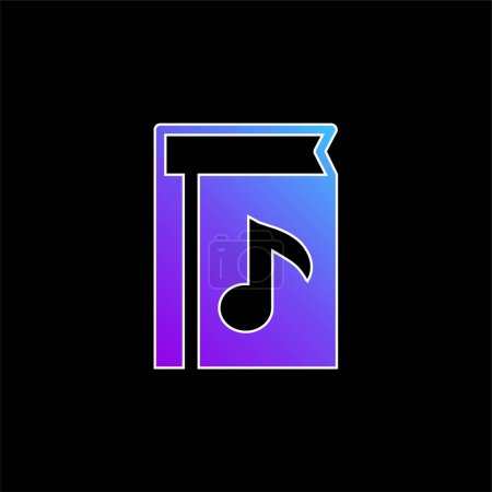 Book Of Music blue gradient vector icon