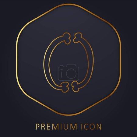 Illustration pour Bones Thin Filled Couple ligne d'or logo premium ou icône - image libre de droit