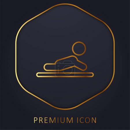 Baby golden line premium logo or icon