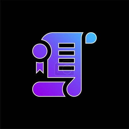 Photo pour Accord bleu dégradé vecteur icône - image libre de droit