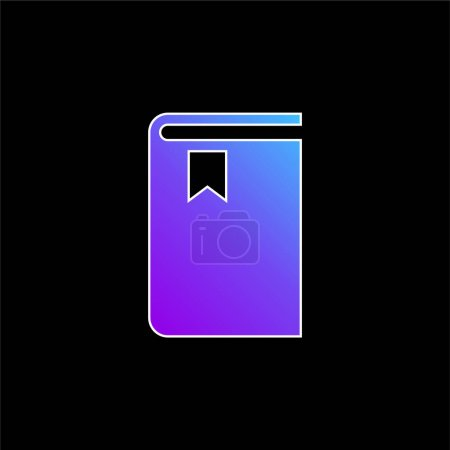 Illustration for Book blue gradient vector icon - Royalty Free Image